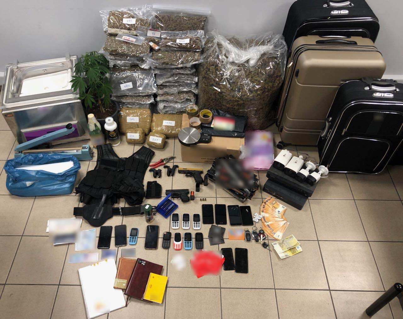 Θεσσαλονίκη: Συνελήφθησαν μεγαλέμποροι ναρκωτικών