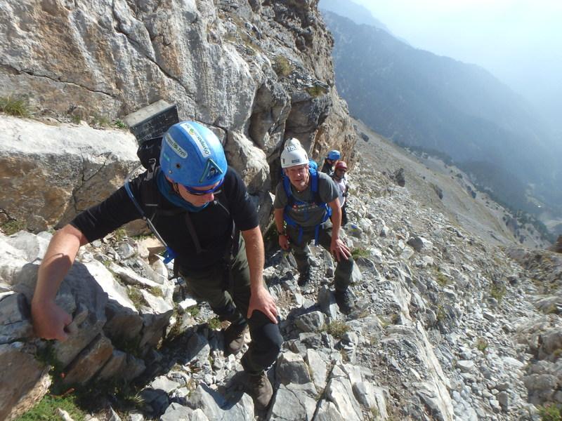 Τραυματισμός ορειβάτη στον Όλυμπο