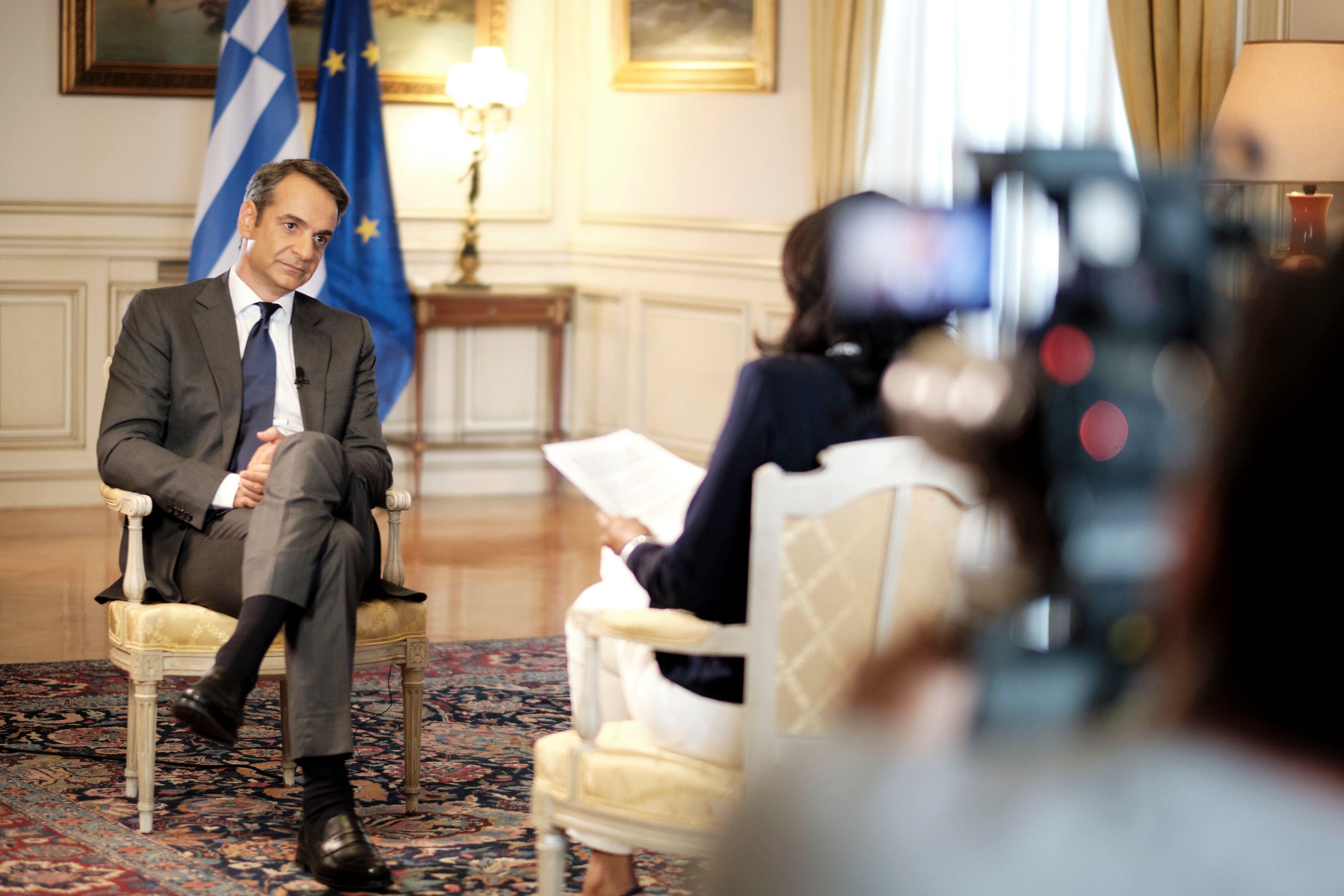 O Κυριάκος Μητσοτάκης έδωσε την πρώτη του τηλεοπτική συνέντευξη ως πρωθυπουργός στο BBC