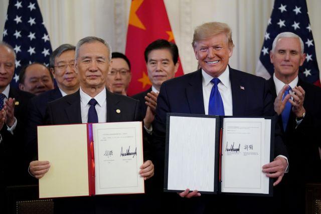 «Φάση πρώτη» για εμπορική συμφωνία ΗΠΑ – Κίνας – Τι προβλέπει