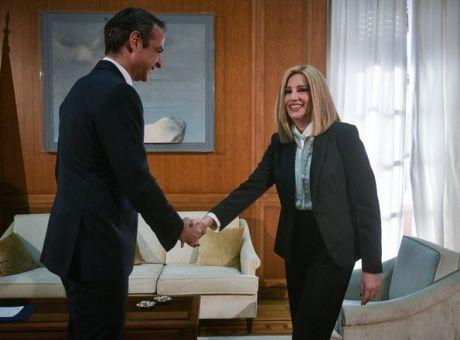 Μητσοτάκης και Γεννηματά συμφώνησαν για Χάγη και διαφώνησαν για εκλογικό νόμο