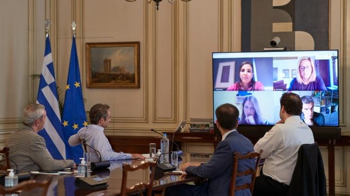 Τηλεδιάσκεψη του πρωθυπουργού με τον επικεφαλής της Google Ευρώπης