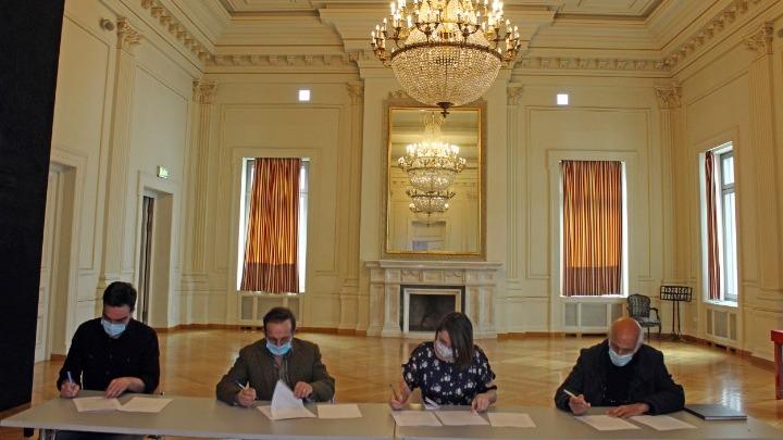Υπογραφή συλλογικής σύμβασης εργασίας μεταξύ Εθνικού Θεάτρου και Σωματείου Ελλήνων Ηθοποιών