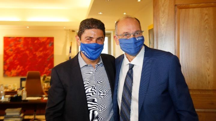 Συνάντηση του Λ. Αυγενάκη με τον νέο πρόεδρο της ΕΟΚ, Βαγγέλη Λιόλιο